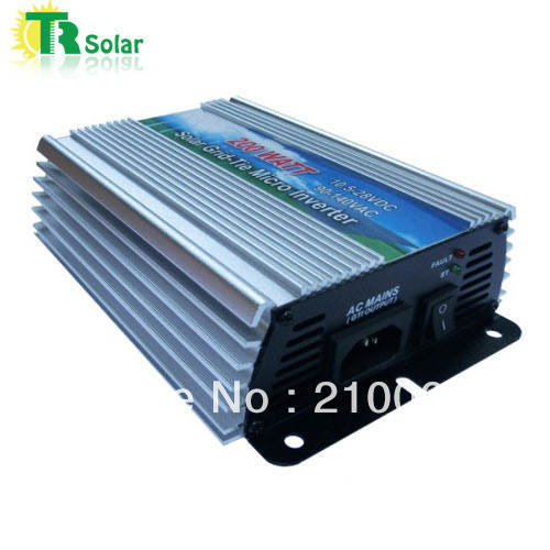 200W Gird Tie Pure Sine Wave Micro Solar Inverter Matched with the 12-18V solar panel for Home Using Free Shipping