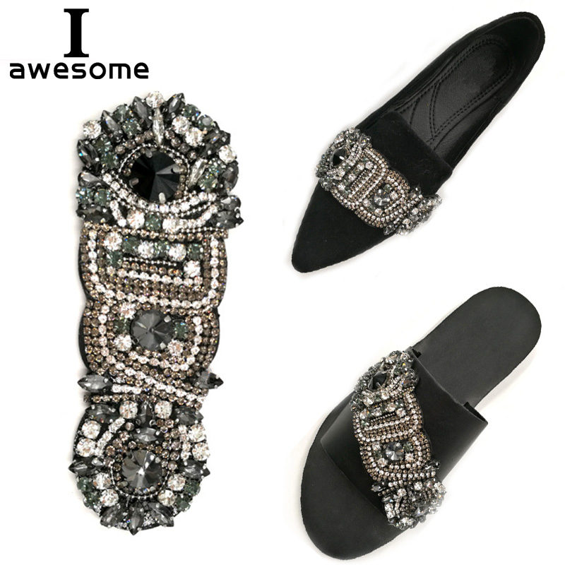 Bohemian Style Bridal Wedding Party Shoes Accessories For High Heels Sandals Boots Manual Rhinestone Decorations Shoe's Flower