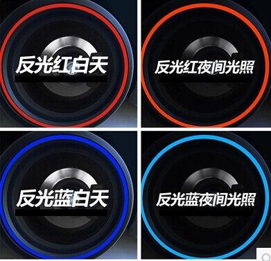 Car-styling Wheel Rim Reflective Sticker For Volkswagen vw Jetta Tiguan POLO Passat CC Golf GTI R20 R36 EOS Scirocco