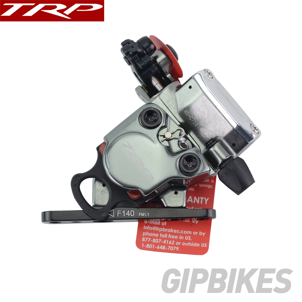 TRP HY//RD C710 Disc Brake Caliper Flat Mount Road Front w// Rotor Cables NEW