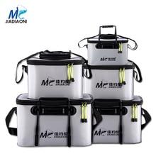 JIADIAONI Folding Live Fish BOX Plastic Carp Rod Fish Bucket Water Tank with Handle Bags Fishing Tackle Accessories
