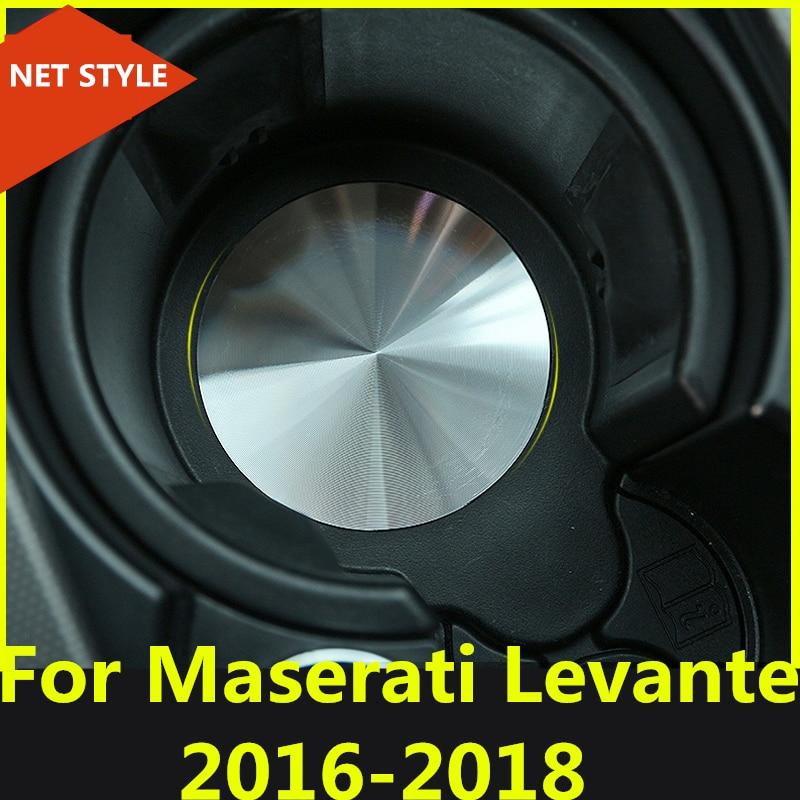 2018 Maserati Levante Interior: Inner Car Central Console Cup Holder Pad Car Water Coaster