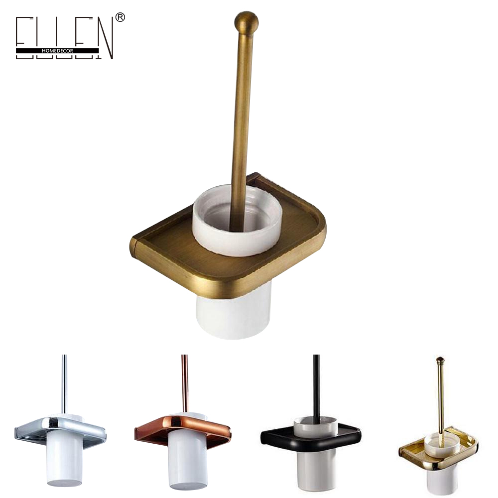 Bathroom Hardware Toilet Brush Holder Bathroom Accessories Antique Bronze Black EL9088 20 sets makeup brush set foundation liquid powder eyeshadow eyeliner lip concealer blending brush beauty fish cosmetics tools