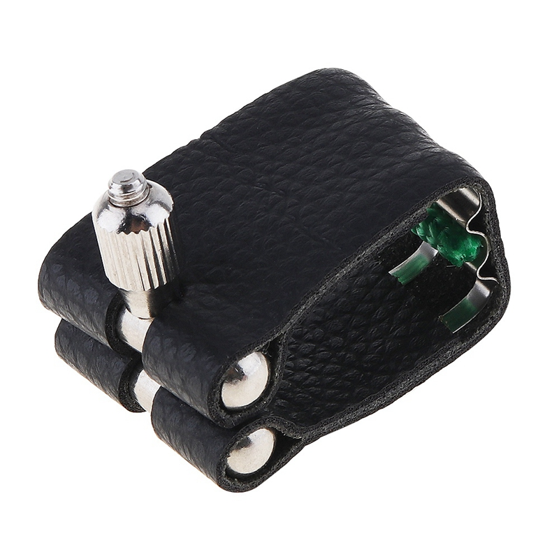 1Pc Leather Ligature Sax Saxophone Ligature Mouthpiece Fastener With Fattener Saxophone Bakelite Mouthpiece