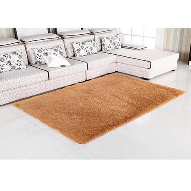 Fluffy Rugs Anti Skiding Shaggy Area Rug Dining Room Carpet Floor Mats Khaki Living