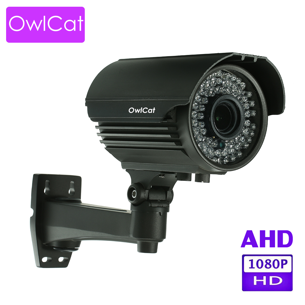 OwlCat HD Street AHD Camera Bullet Waterproof IR Night Vision Camera 2.8-12MM Manual Zoom CCTV Home Security Video Surveillance цена и фото