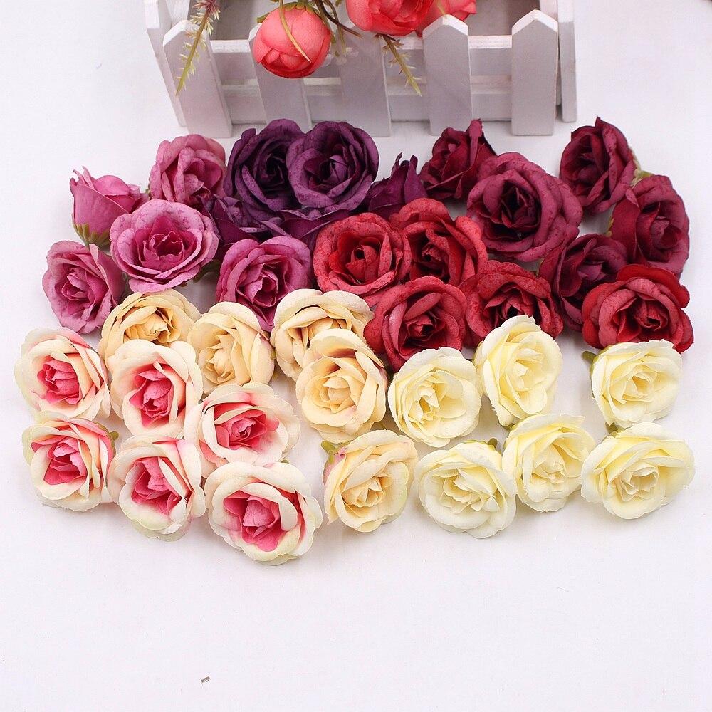10pcs 4cm silk rose artificial flower wedding home furnishings diy 10pcs 4cm silk rose artificial flower wedding home furnishings diy wreath sheets handicrafts simulation cheap fake izmirmasajfo