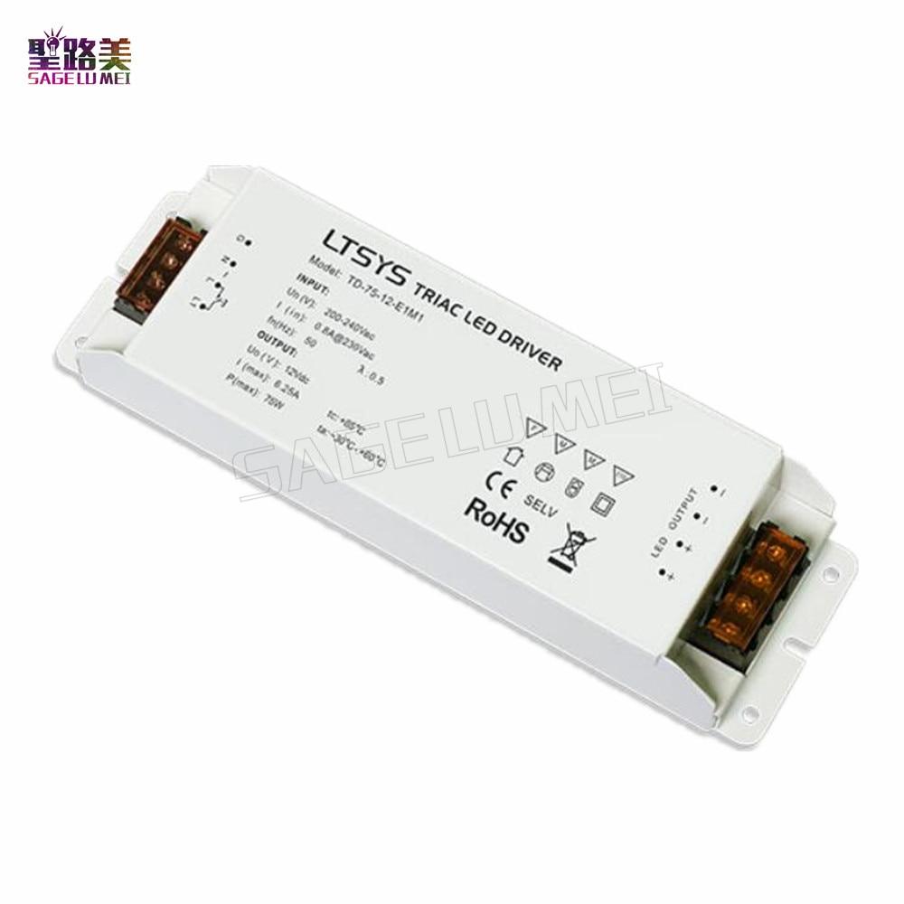 TD 75 12 E1M1 LTECH 200V 240VAC input led driver 12VDC 6 25A 75W constant voltage