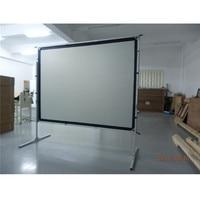 """Dobra rápido Portátil 120 """"Frente/Traseira Tela De Projeção 4:3 HD para Uso Indoor/Outdoor projector screen rear projector screen fast fold -"""
