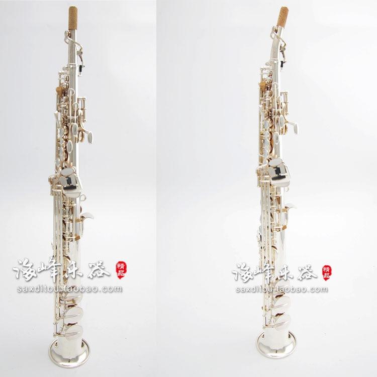 Saxophone soprano YANAGISAWA S991 tripler argent plaqué sax soprano Professionnel instruments de musique Porte-Parole livraison gratuite
