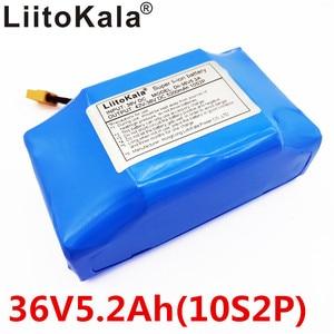 """Image 1 - Batería de litio de 36V y 5,2ah para patinete eléctrico de 2 ruedas de alto drenaje, batería de equilibrio para ajuste de equilibrio automático de 6,5 """"y 7"""""""