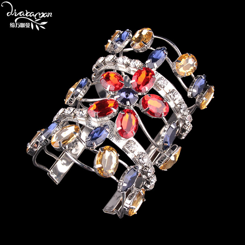 6be9fa15e21 Aliexpress.com : Buy Dvacaman Brand Bohemian Oversize Wide Maxi  Bracelet&Bangle For Women Handmade Crystal Statement Wedding Jewelry  Accessory PP78 from ...