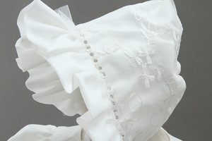 Image 3 - HAPPYPLUS fildişi prenses elbise bebek kız vaftiz elbiseler kat uzunluk uzun elbise için bebek duş vaftiz elbise bebek kız