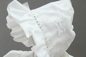 Image 3 - HAPPYPLUS ivoire robe de princesse bébé fille robes de baptême parole longueur longue robe pour bébé douche robe de baptême pour bébé filles