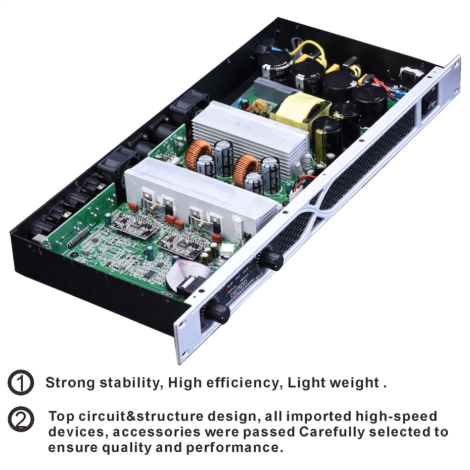 Buy 2 Channel 1700 Watts 1u Class D Professional Power Amplifier Circuit Design Dj Concert Subwoofer Ds500 Tulun Play From Reliable