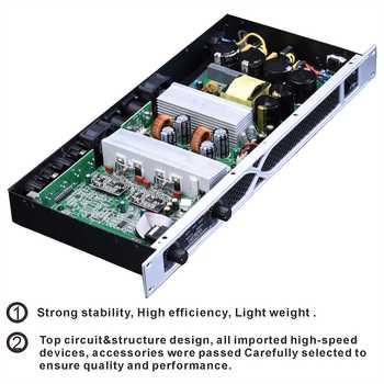 2 Channel 1700 Watts 1U Class D professional power amplifier DJ amplifier Concert Subwoofer amplifier DS500 Prokustk