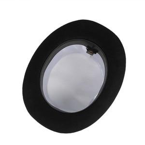 Image 5 - GEMVIE 13.5cm 100% צמר הרגיש מגבעת לגברים מגבעות לבד לנשים כובען מטורף תלבושות צילינדר אדון כובע דרבי כובע קוסם כובע