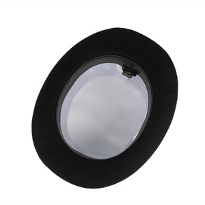 Image 5 - Gemvie 13.5cm 100% lã de feltro chapéu superior para homens fedoras para mulher chapeleiro louco cilindro traje chapéu cavalheiro derby chapéu mágico