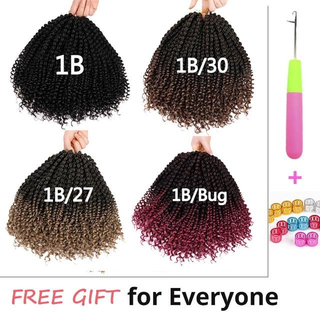14 inch Marley Braids Ombre Hair Crochet Braid Synthetic Braiding Hair Extensions Braids Curly Crochet Hair Women Locs Twist 1