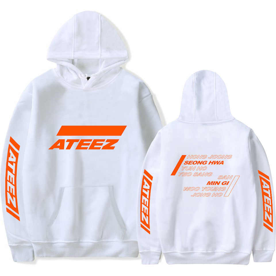 KPOP ATEEZ Oversized Hoodies Vrouwen Mannen Harajuku Sweatshirt K-POP Hongjoong Seonghwa Wooyoung Lange Mouwen Fleece Hooded Trainingspak
