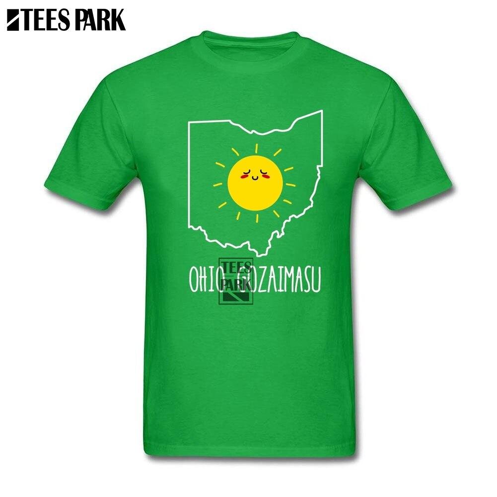Tops Shirt Ohio Gozaimasu Good Morning T Shirts Men Cotton Short Sleeve Tee Shirts Hot Sale Teenage Men Cool Mens T Shirts