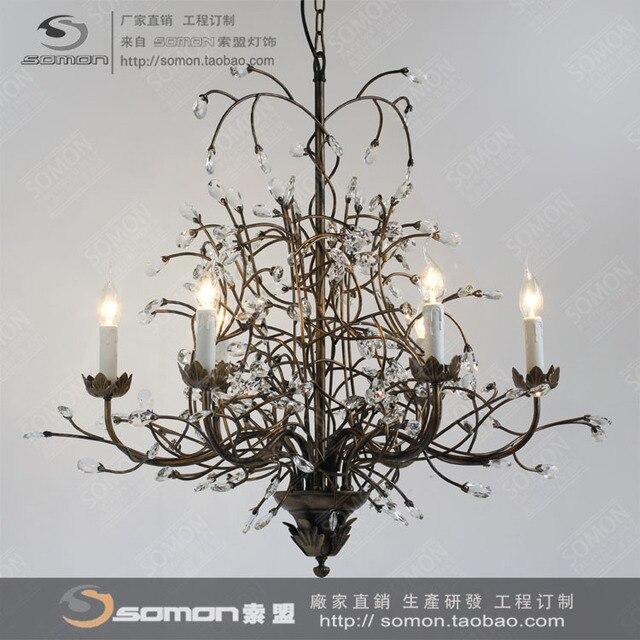 nordic amerikaanse continentaal ikea kroonluchter kristal lamp kroonluchter kunst minimalistische modern restaurant kroonluchter lamp woonkamer
