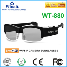 3.0MP camera sunglasses/HD 720P wifi sunglsses with camera free shipping