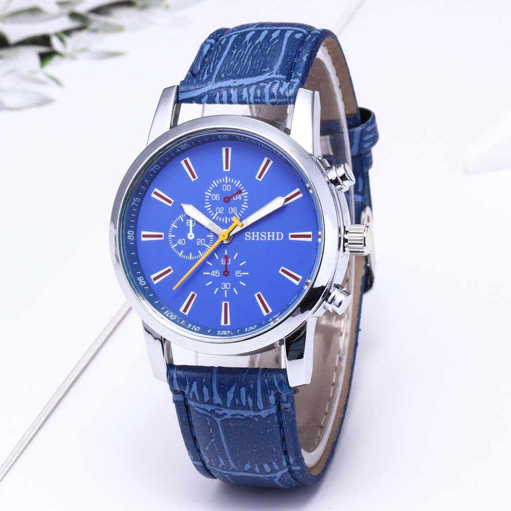 2019 Luxury Fashion Watch Women Relogio Feminino Quartz Watches Three Eye Dial Casual Leather Band Ladies Business Wristwatch