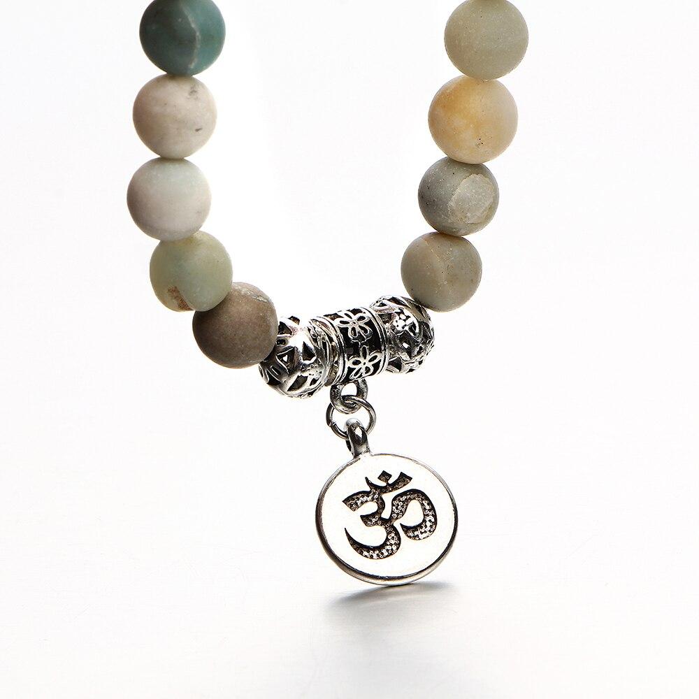 Women's Natural Stone Om Bracelet 3