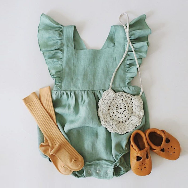 2019 Newborn Baby Clothes For Girls Baby Girl   Rompers   Fashion Spring Long Sleeve Kids Jumpsuit Baby Girls Outfits Clothes
