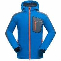 MOUNT CONRUER Mammoth Men's Winter Softshell Fleece Jackets Outdoor Sport Thick Coats Trekking Camping Skiing Male Windbreaker
