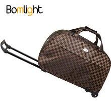 Bomlight alta qualidade saco de bagagem à prova dthick água estilo grosso rolando mala trole bagagem