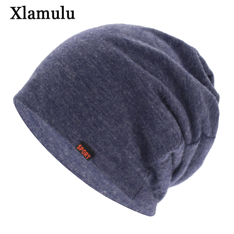 Xlamulu Brand   Skullies     Beanies   Hat Scarf Women Winter Hats For Men Caps Male Scarves Bonnet Mask Autumn Men's   Beanie   Knitted Hat