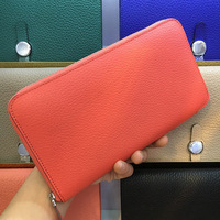 Ladies Wallets High quality Femme Clutch Zipper Wallets Real Leather Women Handy Card Holder Purse Cell Phone Pocket Hot Sale