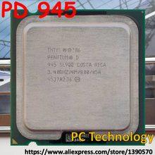 Intel pentium pd 945 desktops pd945 cpu, pentium d 945 3.4ghz 4m 800mhz lga775, frete grátis envio dentro de 1 dia