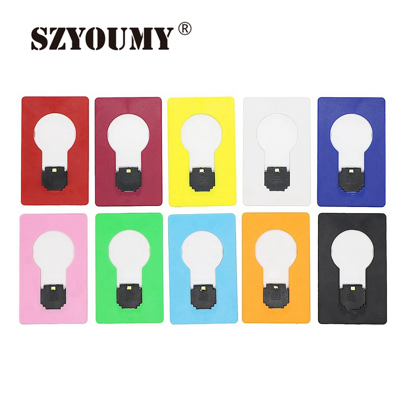 SZYOUMY Portable Mini Lighting Wallet Card Pocket Led Card Night Light Lamp Creative