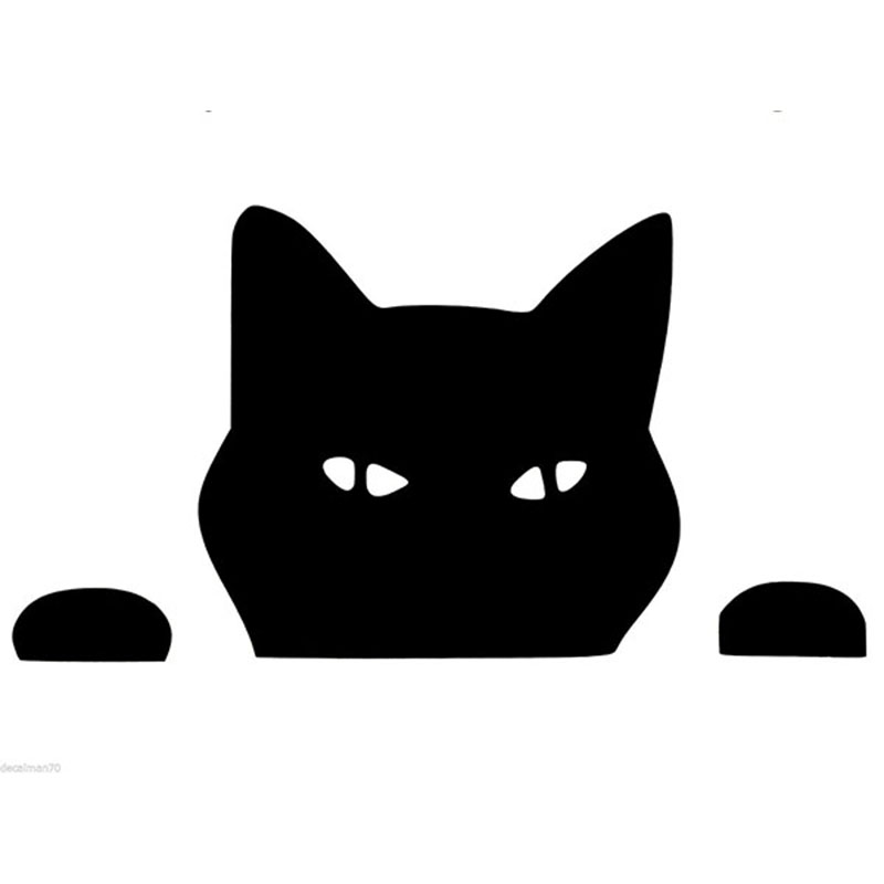 Length 70cm 2x Peeking Cat Funny Car Sticker For Cars Door