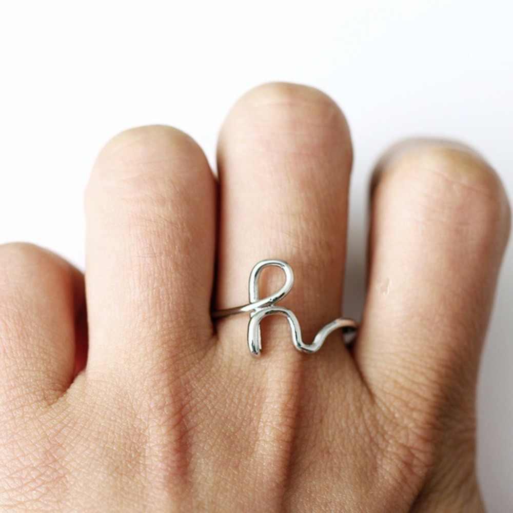 f7215d52d5 ... Sliver Gold Color Custom Letter Rings For Women Lover C E H K L M R Y  Word Name Finger Ring New Fashion ...