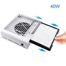 40W New Nail Dust Collector Nail Fan Art Salon Suction Dust Collector Machine Strong Power Vacuum Cleaner Fan цена и фото