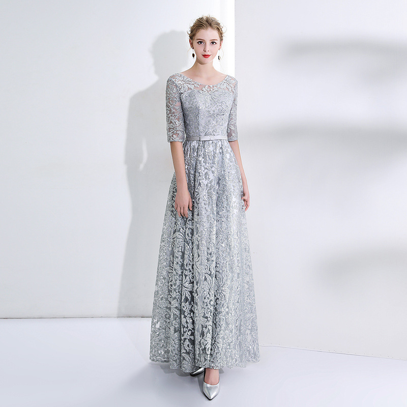 Silver Lace Mother of The Bride Dresses Half Sleeves Mingli Tengda Elegant Women Party Red Dresses High Quality Red Mother Dress