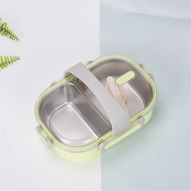 Cor doce Japonês Bento Lunch Box Térmica Para Alimentos Caixa de Aço Inoxidável 304 Lancheira Para Crianças Portátil Picnic Escola Fiambrera