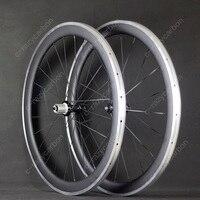Новые колеса углерода Алюминий сплав BrakeSurface 700c 50 мм углеродного волокна колеса велосипеда дорога колесная