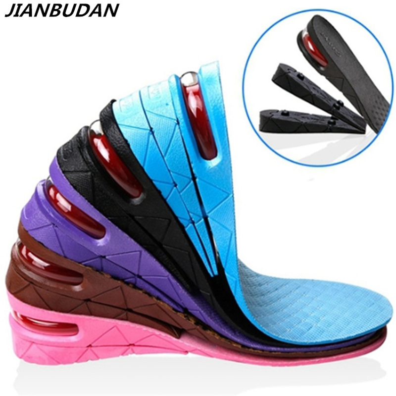 2017 Hot Sale 1 Pair Height Increase Insole Men Women Height Increase Insoles Adjustable Sports Shoes Pad Cushion Inserts for Un expfoot orthotic arch support shoe pad orthopedic insoles pu insoles for shoes breathable foot pads massage sport insole 045