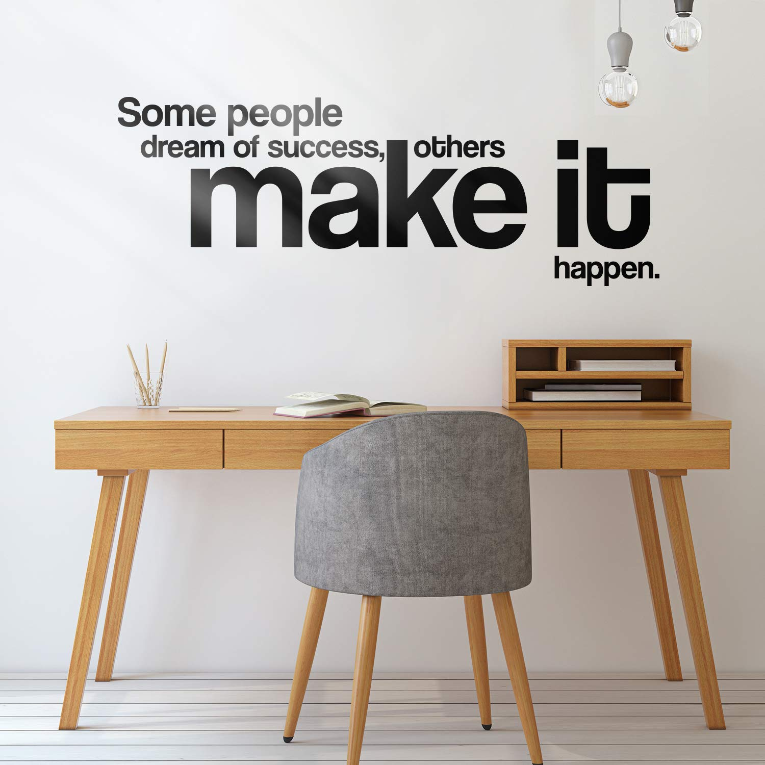 Positive Quotes Dream Of Success Make It Happen Quotes Wall Sticker For Living Room Bedroom Decoration Office Wall Sticker