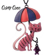 Cring Coco Top Design Cat Choker Necklace Pendant Fashion 2019 New Metal Alloy Jewelry Womens Statement Necklaces & Pendants