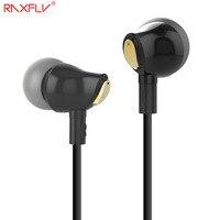 RAXFLY Ceramic Earphone In Ear Earbuds Nano Earphone Stereo Music Mic Contral For IPhone Samsung Xiaomi