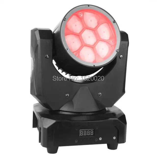 2pieces 7*10w led bee eyes moving head light rgb 3in1 cree led source beam moving head stage dj disco light