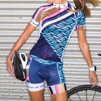 Summer 2019 Short Sleeve Women Cycling Uniform Suits Female Bike Clothing Kit MTB Clothes Bicycle Jersey Gel Pad BIB Shorts Sets