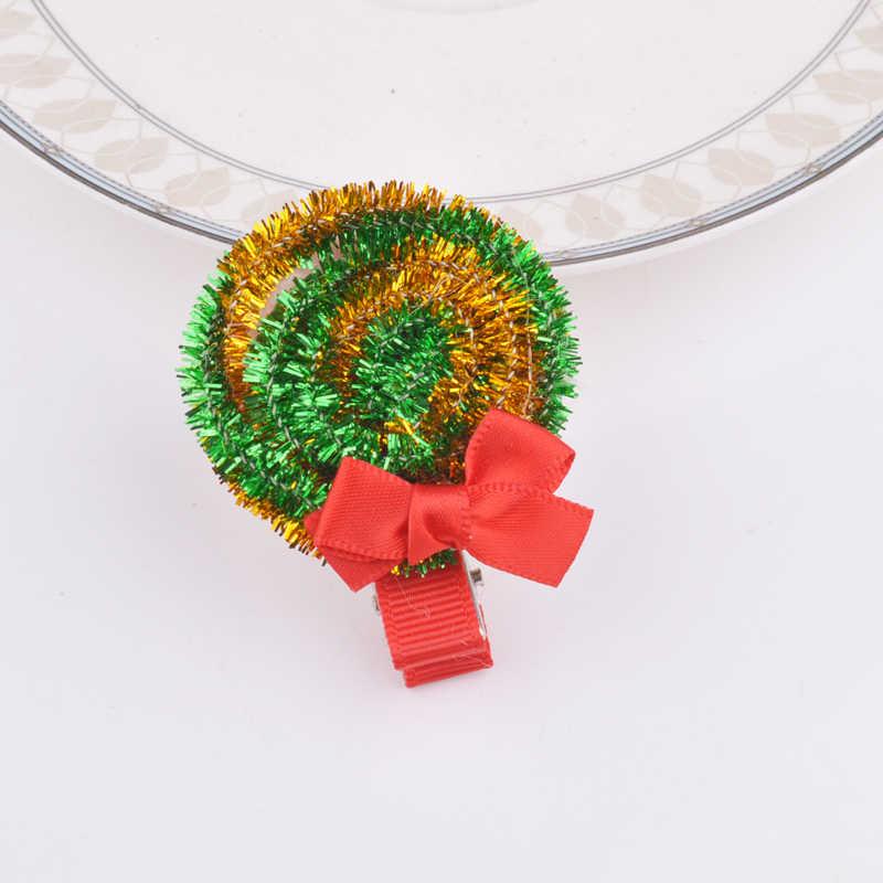 Новые модные рождественские заколки для волос для девочек Санта Клаус рождественские заколки подарки для детей Детские аксессуары для волос
