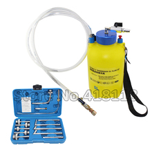 5L Pneumatic Transmission Gear Oil Fluid Filling Set Kit with 13pcs fittings adapters
